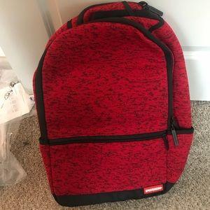 Handbags - Sprayground Bookbag-Red Knit.